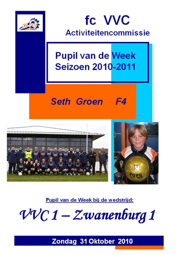 Pupil van de Week